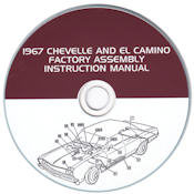 1967 Chevelle & El Camino Factory Assembly Instruction Manual